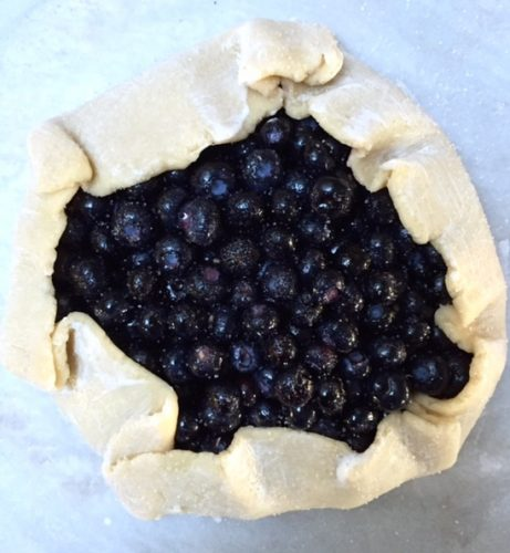 blueberry galette unbaked