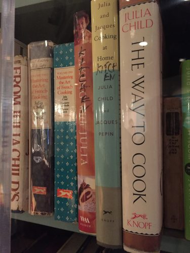 Julia's kitchen bookshelf