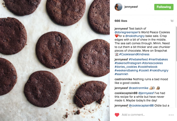@jennyeesf bakes for #cookiesandkindness