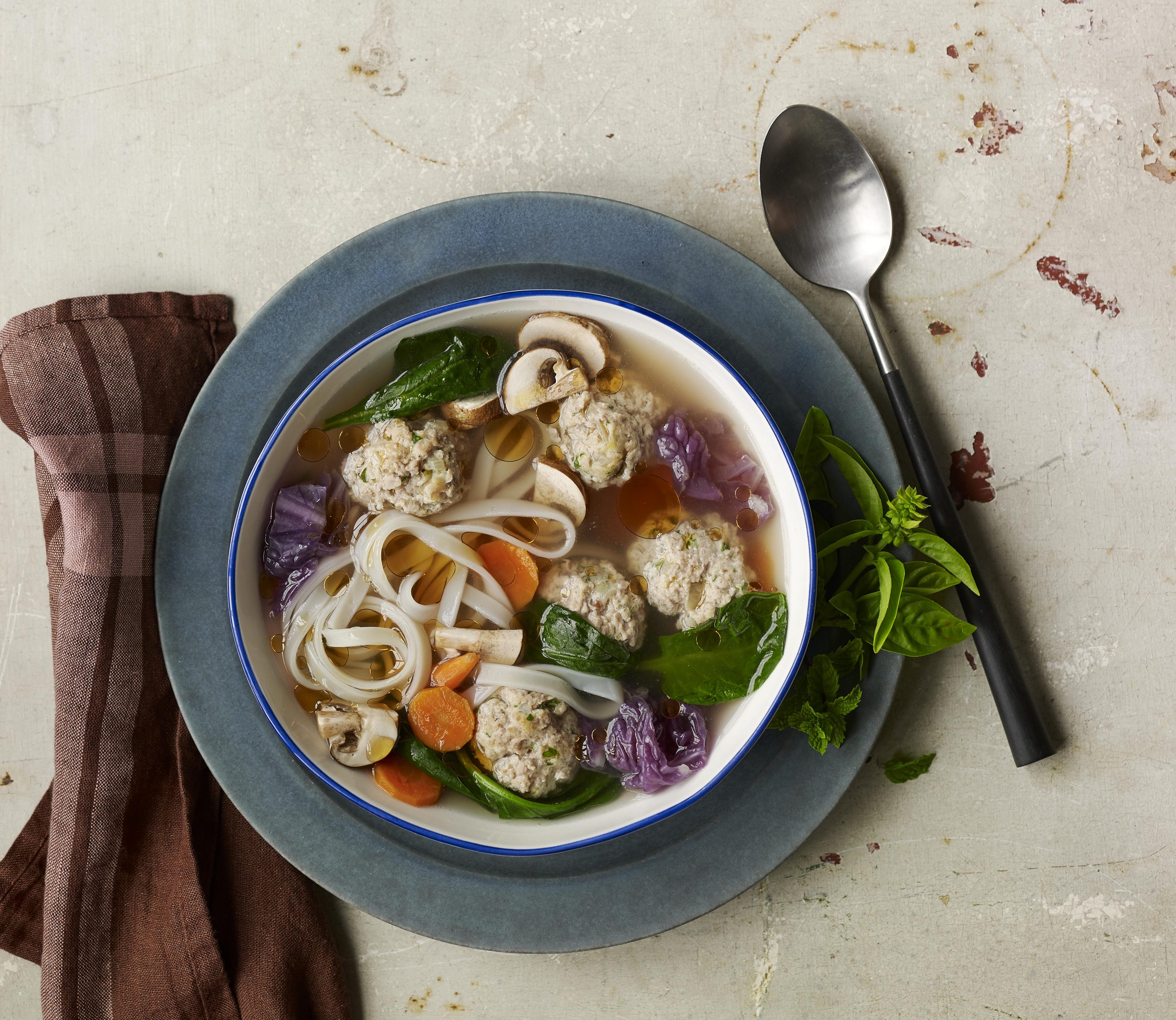 Gingered-Turkey Meatball Soup from Everyday Dorie